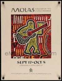 7w062 MOLAS 18x23 museum/art exhibition '80s colorful folk art of the Cuna Indians!