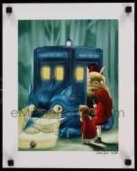 7w026 MY NEIGHBOR TOTORO signed 12x15 special '14 by artist James Hance, Doctor Who, 40/250!