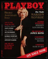 7w073 PLAYBOY 24x30 advertising poster '97 great image of super-sexy Marilyn Monroe!