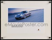 7w074 PORSCHE 15x21 advertising poster '00 keep the logical side of your brain pinned!