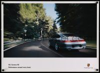 7w078 PORSCHE 22x30 advertising poster '10s great image of the 911 Carrera 4S!