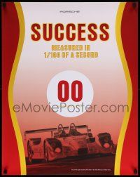 7w077 PORSCHE 22x28 advertising poster '06 success is measured in 1/100 of a second!