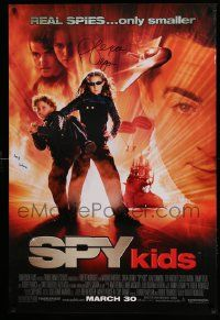 7w041 SPY KIDS signed advance 1sh '01 by Alexa Vega and Daryl Sabara, directed by Robert Rodriguez!