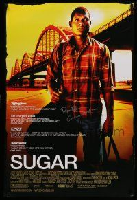 7w042 SUGAR signed DS 1sh '08 by directors Ryan Fleck & Anna Boden, cool image of Algenis Perez Soto