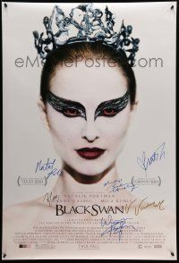 7x0384 BLACK SWAN signed advance DS 1sh '10 by Portman, Kunis, Cassel, Ryder, Hershey AND Aronofsky!
