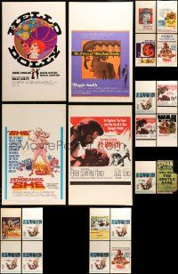 8a027 LOT OF 30 UNFOLDED WINDOW CARDS '60s great images from a variety of different movies!