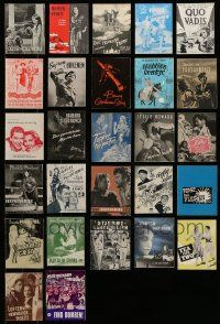 8a019 LOT OF 27 DANISH PROGRAMS '30s-50s different images & art from a variety of U.S. movies!