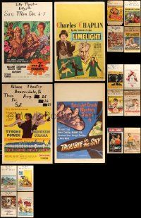 8a028 LOT OF 18 MOSTLY UNFOLDED WINDOW CARDS '50s-60s a variety of great movie images!
