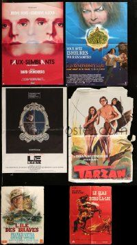 8a037 LOT OF 6 FOLDED FRENCH POSTERS '50s-80s Labyrinth, Tarzan, cool different artwork!