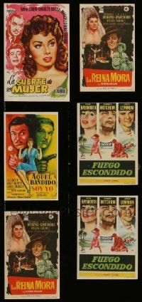 8a018 LOT OF 6 SPANISH HERALDS '50s great different artwork from a variety of movies!