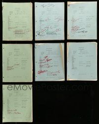 8a010 LOT OF 7 GENERAL HOSPITAL TV SCRIPTS '81 screenplays for the ABC television show!