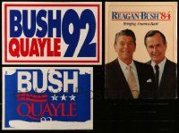 8a033 LOT OF 3 UNFOLDED REPUBLICAN PARTY POLITICAL CAMPAIGN POSTERS '80s-90s Reagan, Bush, Quayle!