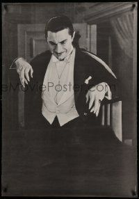 8c612 DRACULA 28x40 commercial poster '66 Browning, Bela Lugosi with his classic long fingernails