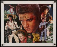 8c616 ELVIS PRESLEY 20x24 commercial poster '83 cool portraits of The King over the years!