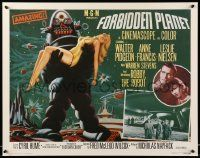 8c620 FORBIDDEN PLANET 22x28 commercial poster R95 art of Robby the Robot carrying Anne Francis!
