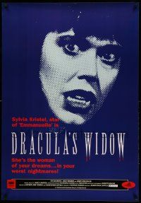 8c559 DRACULA'S WIDOW 27x39 video poster '89 Christopher Coppola directed, sexy Sylvia Kristel!