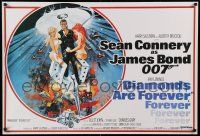 8c730 DIAMONDS ARE FOREVER REPRO 27x40 English special '80s Connery as James Bond 007 by McGinnis!