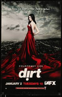8c538 DIRT tv poster '07 great image of gorgeous Courteney Cox in incredible dress!