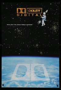 8c406 DOLBY DIGITAL DS 27x40 special '97 theatre surround sound, cool astronaut in space!