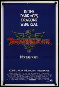 8c407 DRAGONSLAYER 16x24 special '81 in the Dark Ages, dragons were real, not a fantasy!