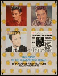 8c307 ELVIS PRESLEY 24x32 music poster '87 images of The King, commemorative releases!