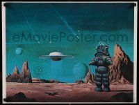 8c270 FORBIDDEN PLANET 18x23 art print '78 sci-fi classic, art of Robby the Robot by Vincent Di Fate