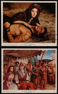 8d018 CONQUEROR 11 color 8x10 stills '56 John Wayne as Genghis Khan, sexy Susan Hayward!