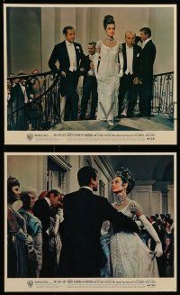 8d026 MY FAIR LADY 10 color 8x10 stills '64 Audrey Hepburn & Rex Harrison classic musical!
