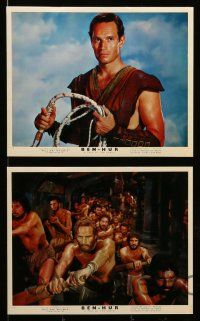8d002 BEN-HUR 16 color English FOH LCs '60 Charlton Heston, Hawkins, William Wyler classic!