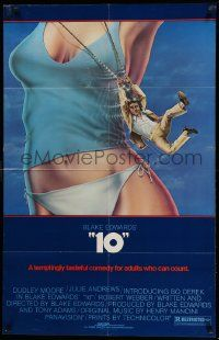 8g001 '10' 26x40 1sh '79 Blake Edwards, Alvin art of Dudley Moore, sexy Bo Derek, no border design