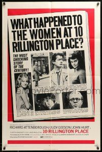 8g002 10 RILLINGTON PLACE 1sh '71 Attenborough, the story of the Christie sex-murders!