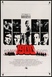 8g005 1900 int'l 1sh '77 directed by Bernardo Bertolucci, Robert De Niro, different images!