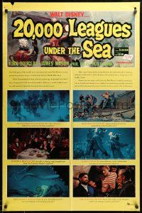 8g007 20,000 LEAGUES UNDER THE SEA style B 1sh R63 Jules Verne classic, great art of deep sea divers