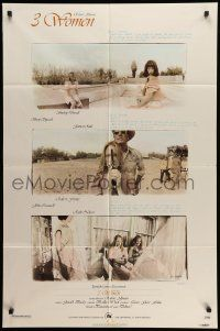 8g009 3 WOMEN 1sh '77 directed by Robert Altman, Shelley Duvall, Sissy Spacek, Janice Rule