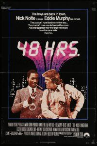 8g013 48 HRS. 1sh '82 Nick Nolte is a cop who hates Eddie Murphy who is a convict!