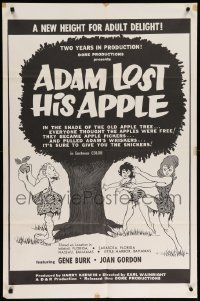 8g020 ADAM LOST HIS APPLE 1sh '65 wacky sexploitation, a new height for adult delight!