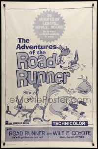8g023 ADVENTURES OF THE ROAD-RUNNER 1sh '62 Mel Blanc, Chuck Jones, Looney Tunes & Merrie Melodies