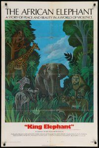8g024 AFRICAN ELEPHANT style B 1sh '71 great artwork, get to know the jungle before they pave it!