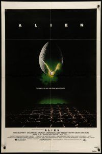 8g029 ALIEN 1sh '79 Ridley Scott outer space sci-fi monster classic, cool egg image!
