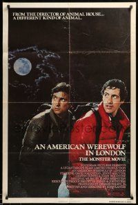 8g033 AMERICAN WEREWOLF IN LONDON 1sh '81 David Naughton, Agutter, Dunne, John Landis!