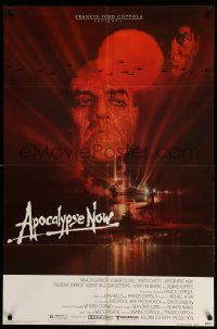 8g040 APOCALYPSE NOW 1sh '79 Francis Ford Coppola, classic Bob Peak art of Brando and Sheen!