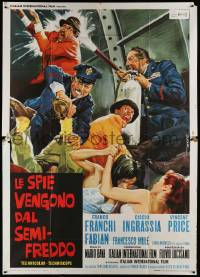 8j056 DR. GOLDFOOT & THE GIRL BOMBS style B Italian 2p '66 Mario Bava, Vincent Price, DeSeta art