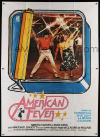 8j011 AMERICAN FEVER Italian 2p '78 Saturday Night Fever rip-off with disco dancers!