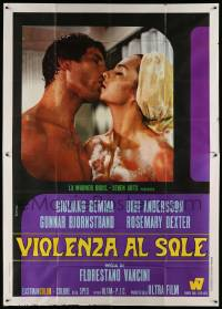 8j027 BLOW HOT BLOW COLD Italian 2p '69 c/u of sexy naked Bibi Andersson & Giuliano Gemma!