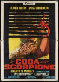 8j032 CASE OF THE SCORPION'S TAIL Italian 2p '71 De Amicis art of woman attacked behind blinds!