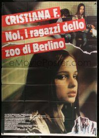 8j034 CHRISTIANE F. Italian 2p '81 classic German drug movie about 13 year-old drug addict/hooker!