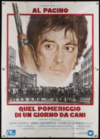 8j054 DOG DAY AFTERNOON Italian 2p '75 Al Pacino, Sidney Lumet bank robbery classic, different!