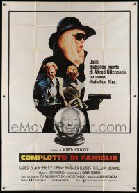 8j065 FAMILY PLOT Italian 2p '76 from the mind of devious Alfred Hitchcock, Karen Black, Bruce Dern