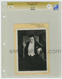 8s013 BELA LUGOSI slabbed 5x7 still '31 appears to be from 1st Dracula release, but we don't know!