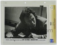 8s025 MAGNUM FORCE slabbed 8x10 still '73 close up of Clint Eastwood is Dirty Harry on the ground!